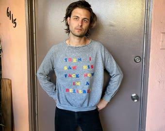 Vintage Lyric Sweatshirt - Justin Bieber - Belieber