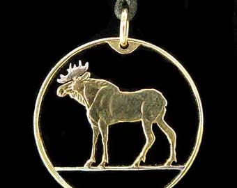 Cut Coin Jewelry - Pendant - Norway - Moose