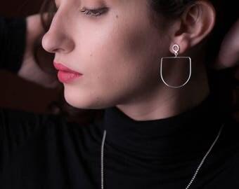 Dream earrings - sterling silver post dangle earrings