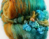 Sunken Treasure Wild Card Bling Batt for spinning and felting (4.4 ounces), batt, art batt