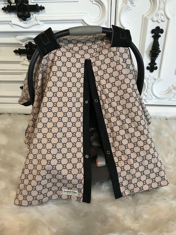 Car seat canopy , Gucci inspired , custom car seat canopy , Jumbo BLINK bow included