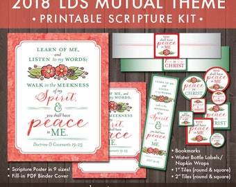 2018 LDS Mutual Theme Printable Kit (Instant Download) - You Shall Have Peace In Me [Christ]