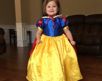 New Snow white Inspired Costume Birthday girl toddler princess dress size 2 4 6 8