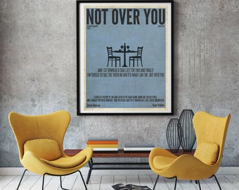 Not Over You / Gavin DeGraw / Lyric / DIGITAL Minimalist Typography Poster / Printable