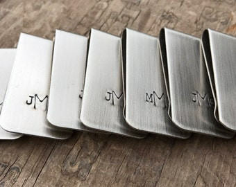 6 Money Clips Hipster Wedding Groomsmen Custom Moneyclips SET of 6 Gifts for Groomsmen