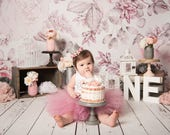 Dusty Rose Pink Baby Girl 1st Birthday Outfit Baby Tutu Dress Birthday Dress Baby Girls Cake Smash Outfits Birthday Tutu First Birthday