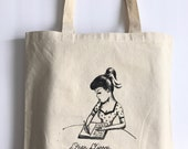 Dear Diary, Fuck this Shit - canvas tote by Marybel Martin - 15x16""