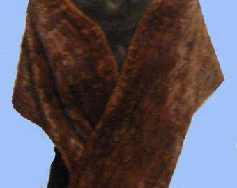 Womens Burgundy Sable Fur Stole SZ Sm -Med