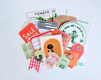 Mini Farm Girl Ephemera Pack / 20 Pieces / Vintage Ephemera / Paper Ephemera / Journal / Farm Inspiration Kit
