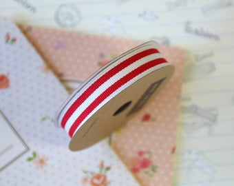 Red Stripe Grosgrain ribbon