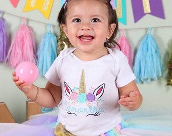 Unicorn Birthday Shirt - Unicorn Birthday Outfit - Unicorn Birthday Party - Girls Birthday Shirt