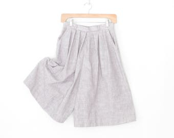 vintage palazzo pants * wide leg culottes * short pants * striped culottes * small