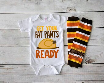 Get your fat pants ready-Baby Thanksgiving outfit- Baby Girl Fall Outfit-Baby Boy Fall Outfit- Newborn Fall Bodysuit-Infant Thanksgiving