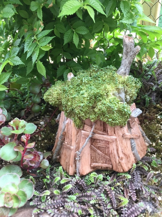 Mini Fairy Tree House, Fairy House #4317, Fairy Garden, Miniature Garden Decor, Home & Garden Accessory, Topper, Shelf Sitter