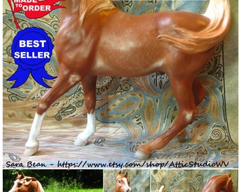 Custom Breyer Horse MADE TO ORDER 9 Inch Traditional Figure, Made to Your Specifications, ooak cm Dream Horses, Customized Portrait Model