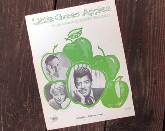 1968 Little Green Apples Vintage Sheet Music, Words & Music by Bobby Russell, Recorded by Roger Miller, Patti Page and O.C. Smith