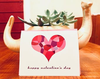 Heart Mosaic Valentine Card - 100% Recycled Paper