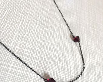 Gorgeous Antique Garnet Necklace