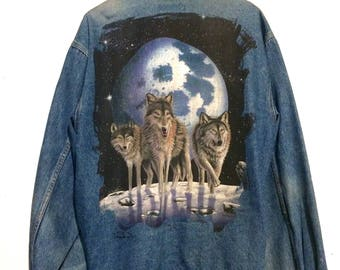 Wolf Pack Jean Jacket