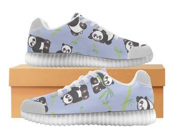 Panda Bear LED Light Up Shoes | Boys Girls & Womens Sizes | High Stretch Upper | EVA + Mesh Fabric Insole | 7 Colors | Bold Design | Fashion