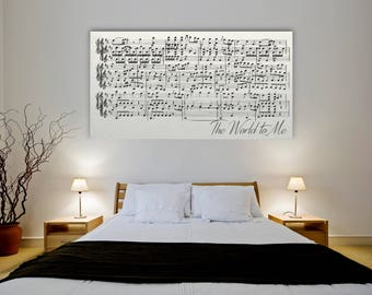 Sheet Music Wall Art, First Dance On Canvas, Sheet Music Art Framed On  Canvas Part 14
