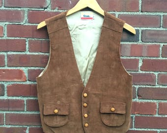 Vintage Cotler Brown Corduroy Vest - Small