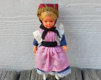 Traditional German Doll, Ammerland, Happy Days In Germany, Blonde Hair, Blue Eyes, Traditional Attire, Collectible Doll