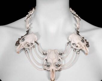 Muskrat & Raccoon Bone Necklace