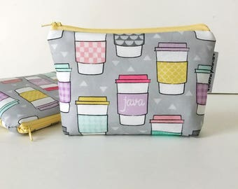 simple pouch -- java in pastel