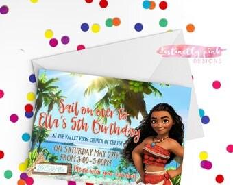 Custom Moana Birthday Invitation - Printable/Digital