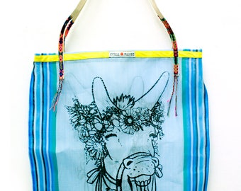 Mesh Tote Bag Arre Lulu Blue