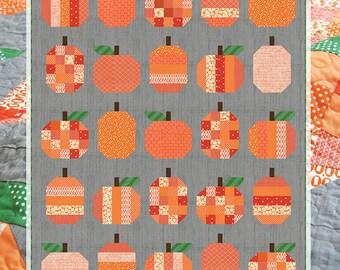 Pumpkins Pattern by Cluck Cluck Sew - Pumpkin Quilt Pattern - Fat Quarter Quilt