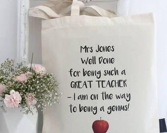 Great Teacher | Bag | Thank You Teacher | Personalised Teacher Gift | Teacher Gift | Teacher Appreciation | Gifts For Teachers