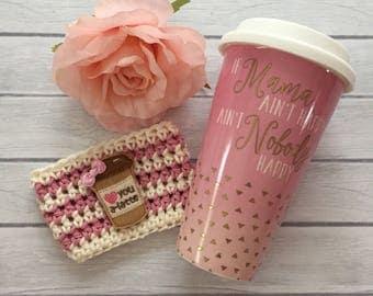 Cup cozy, coffee cup cozy, crochet cup cozy, coffee cup sleeve, coffee cozy, crochet cup sleeve, planner supplies