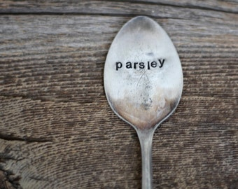 Garden Markers - Antique Spoons  - Stamped By Rawkette