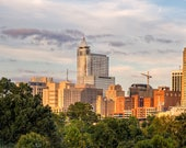 Downtown Raleigh,North Carolina,Skyline,Wall Art,Oversize Canvas,Home Decor,Raleigh,Canvas Photography