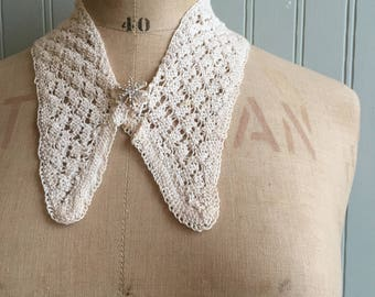 Vintage Knitted collar, 1930s, 1940s