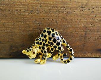 Vintage Park Lane Leopard Brooch