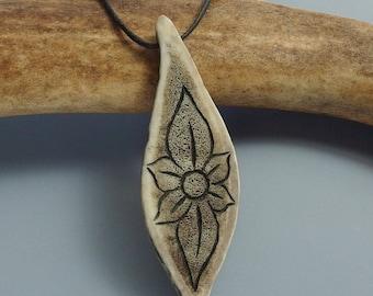 Caribou Antler Flower Necklace