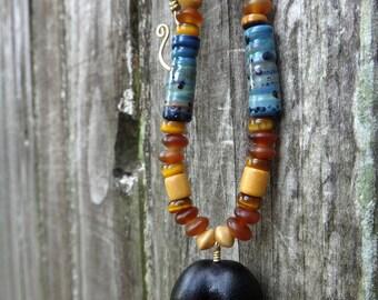 Ocean Treasure Mary's Bean Seabean Necklace