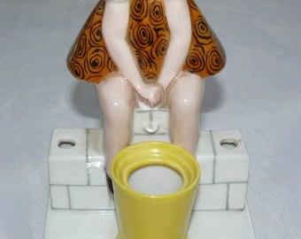 Vintage Porcelain Figural Inkwell