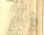 Ladies Mail Order Dress and Hat Pattern Bust 32 Pattern 2896