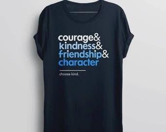 Choose Kind Shirt, kindness shirt, wonder t shirt, be kind tshirt, anti bullying shirt, book tshirt, movie tee, courage friendship character