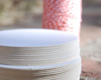 25 Blank 4 inch Round Coasters, heavyweight. Perfect for letterpress, crafts, etc