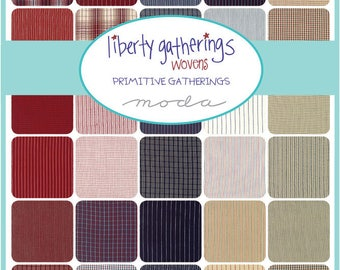 Liberty Gatherings Woven Fat Quarter Bundle by Primitive Gatherings for Moda