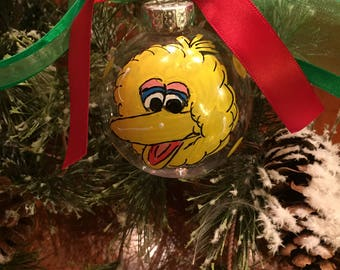 BIG BIRD ELMO Cookie Monster Hand Painted Personalized Ornament