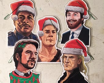 DIE HARD Christmas ORNAMENT 5 Pack Combo!