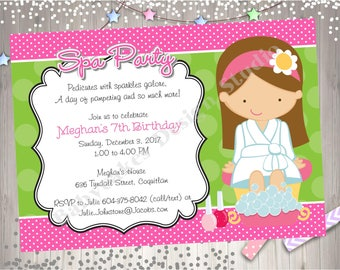 Rockstar Birthday Party Invitation Invite Girl Zebra Pink DIY