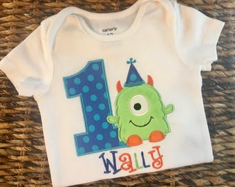 Personalized Monster First Birthday Shirt or Bodysuit, Monster Birthday Shirt, monster shirt, monster party