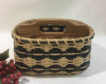 Silverware Basket / Divided Basket / Organizer Basket / Handwoven Basket